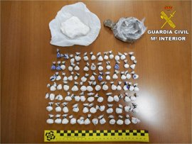 Detenidos dos hombres en El Campello por vender cocaína 'a domicilio' mediante Whatsapp