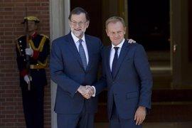 Rajoy y Tusk preparan la cumbre de Bratislava en una reunión en Moncloa