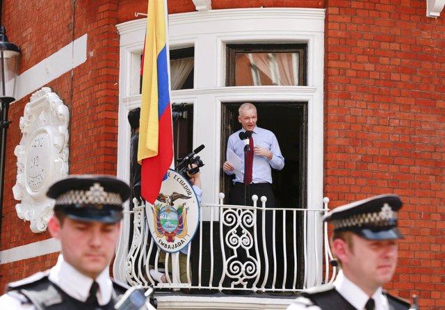 WikiLeaks, Julian Assange en la embajada de Ecuador en Londres