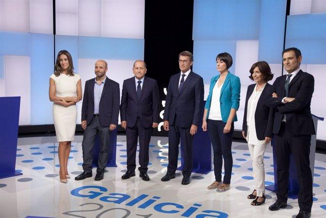 CRTVG. Fotos Debate Electoral
