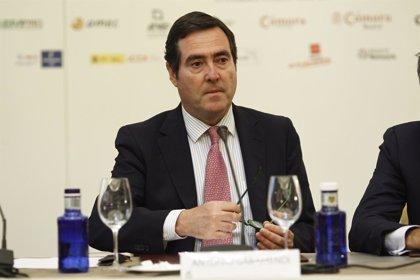 """Garamendi (CEOE) destaca que con inflaciones negativas España """"va bien"""""""