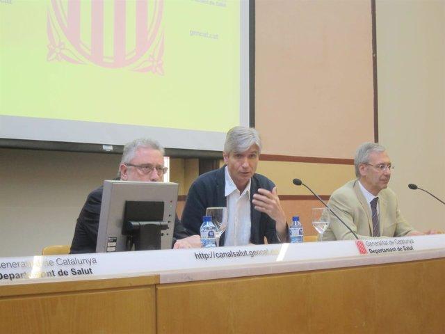 J.Guix (Salut Pública), J.M.Argimon (CatSalut) y C.Rodrigo (Hosp.Vall d'Hebron)