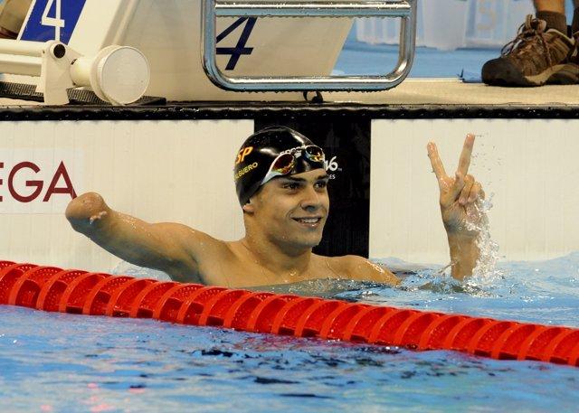 Oscar Salguero, oro en la prueba de 100 m braza de Río