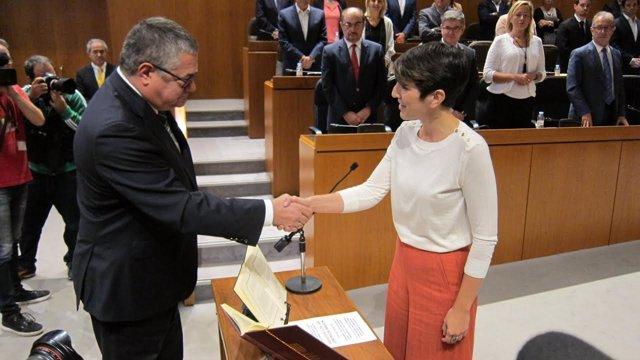 Violeta Barba elegida presidenta de las Cortes de Aragón