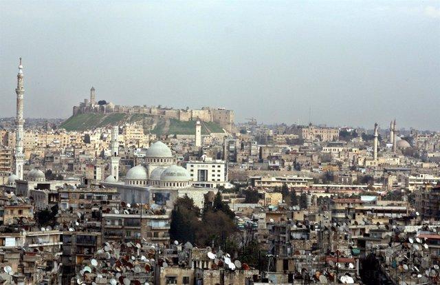 Vista panorámica de Alepo en 2006