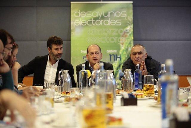 Leiceaga (PSdeG) en un desayuno informativo en A Coruña