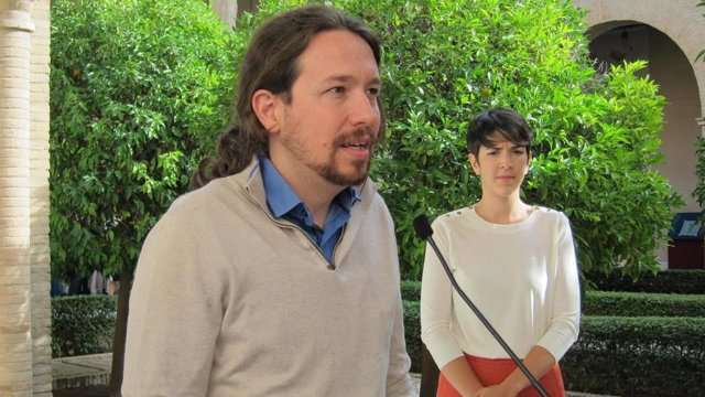 Pablo Iglesias este jueves en las Cortes de Aragón.