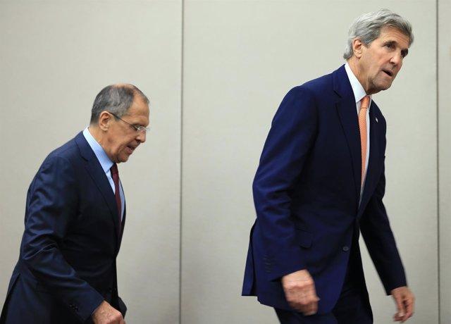 Sergei Lavrov y John Kerry