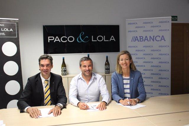 Convenio de Abanca y bodega Paco & Lola.