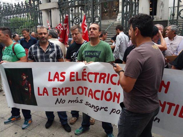 Trabajadores de la empresa minera Astur Leonesa