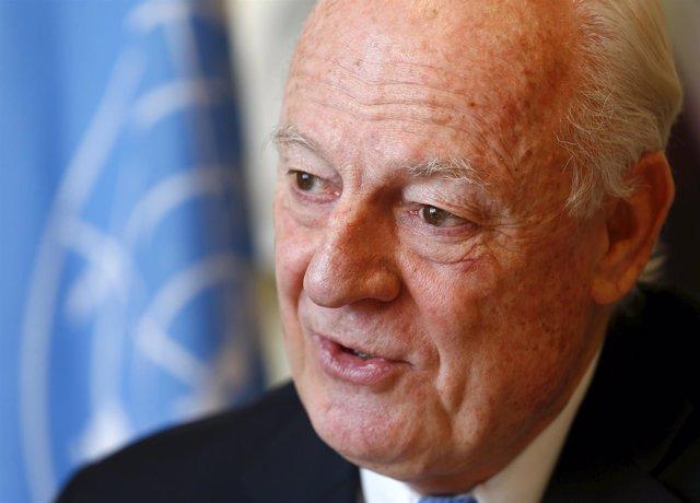 El enviado de la ONU para Siria, Staffan de Mistura