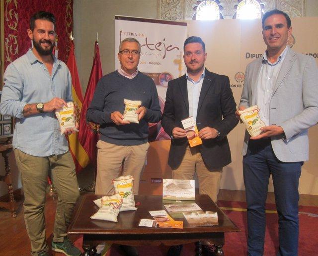 Peña, Alonso, Magdaleno y Gómez presentan la V Feria de la Lenteja
