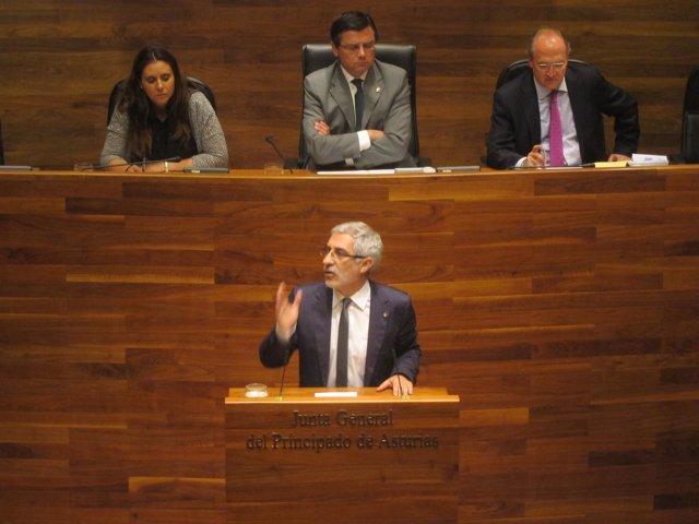 Gaspar Llamazares, en el Pleno de Investidura en la Junta de Asturias