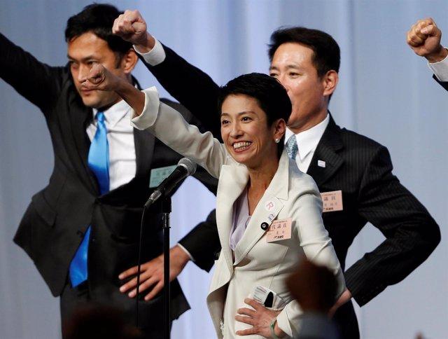 La líder del Partido Democrático en Japón, Rehno Murata