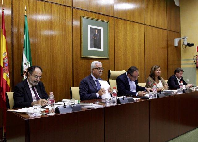 Comparecencia del vicepresidente andaluz, Manuel Jiménez Barrios, en comisión