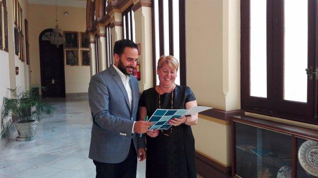 María del Carmen Moreno y Daniel Pérez, PSOE en Ayuntamiento