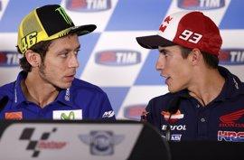 """Márquez: """"No voy a entrar en el juego de palabras con Rossi fuera de la pista"""""""