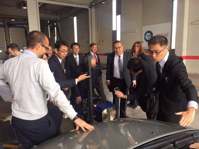 Visita de la delegación japonesa