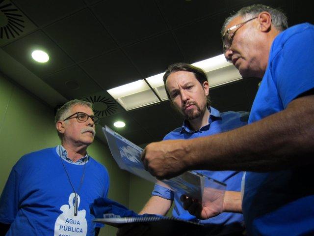 Pablo Iglesias con miembros de RAPA