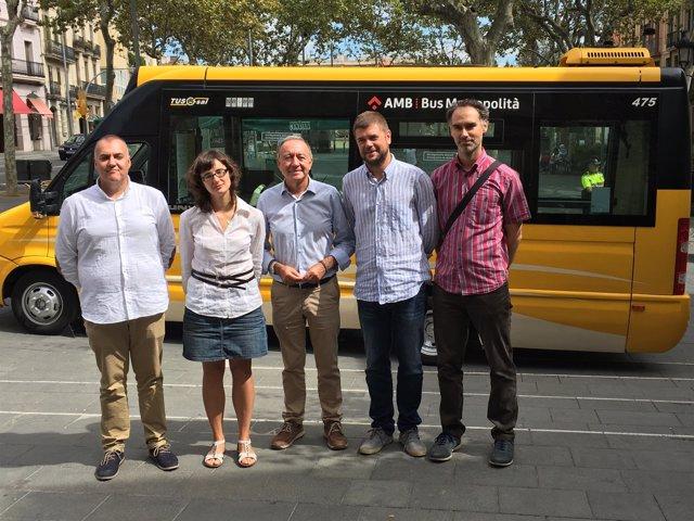 Mercedes Vidal, Antoni Poveda y el asesor técnico del distrito Jaume Llansó