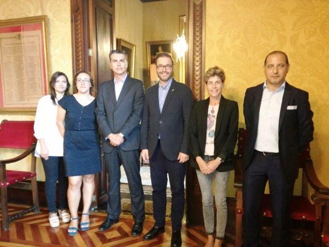 Reunión entre el Ayuntamiento, Telefónica y Agora Next