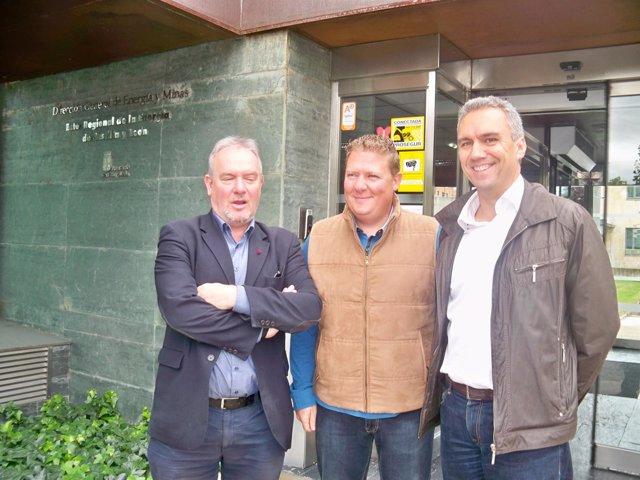 José Francisco Martín, Óscar Álvarez y Javier Izquierdo, en el ERN.
