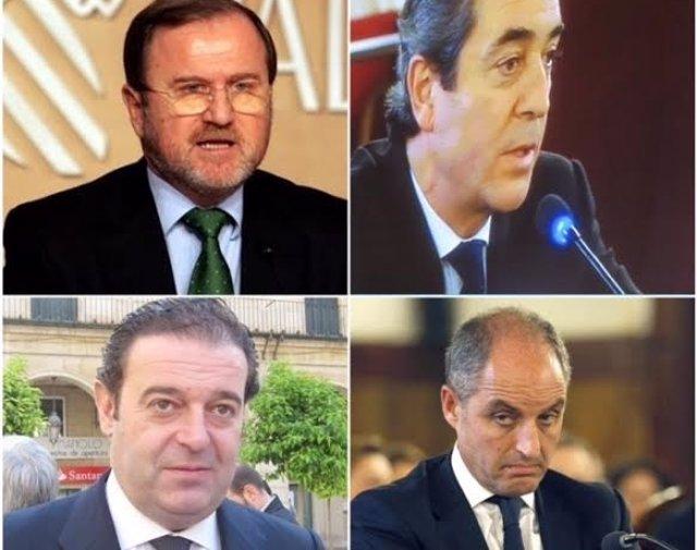 Alejandro Font de Mora, Víctor Campos, Gerardo Camps y Francisco Camps