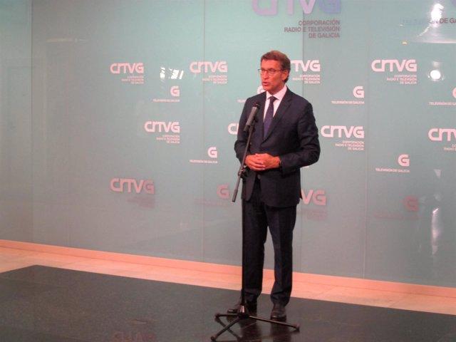 Feijóo después del debate electoral de la CRTVG 25S