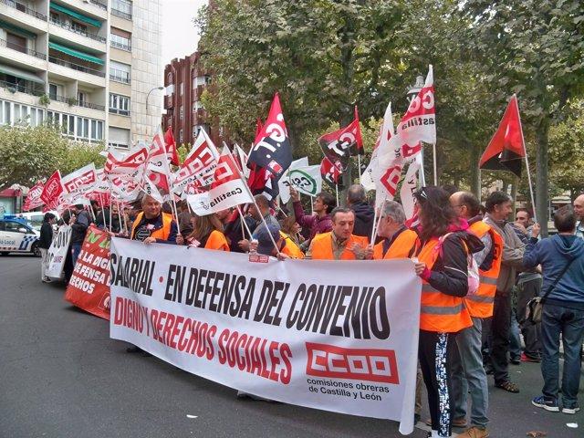 Los manifestantes del telemarketing