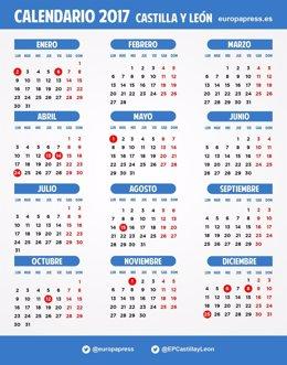 Calendario laboral de Castilla y León para 2017