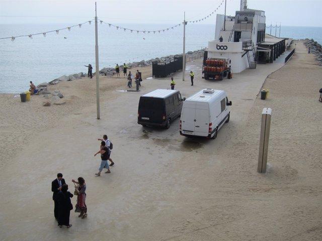 Reconstrucción del crimen de la joven en la Mar Bella