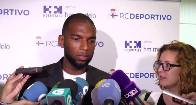 El Delantero Holandés Del RC Deportivo De La Coruña Ryan Babel