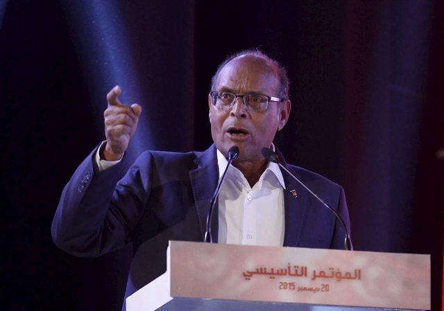 El expresidente tunecino Moncef Marzouki.
