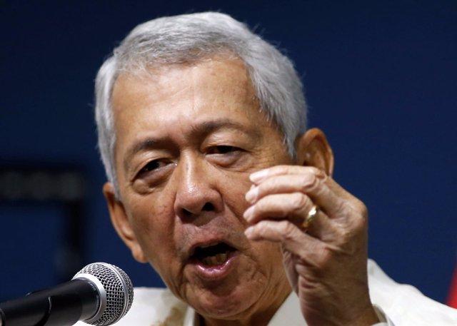El ministro de Exteriores de Filipinas, Perfecto Yasay.