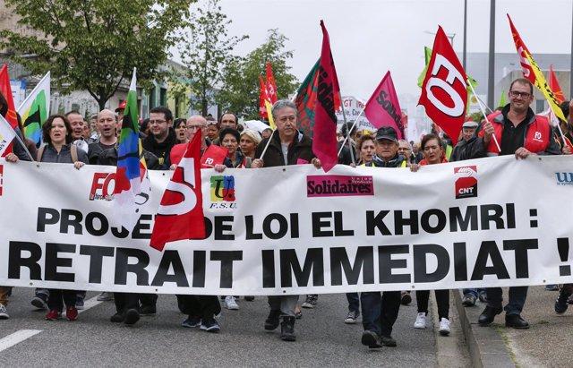 Manifestación contra la reforma laboral en Francia