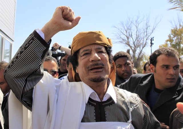 El Exlíder Libio, Muamar Gadafi