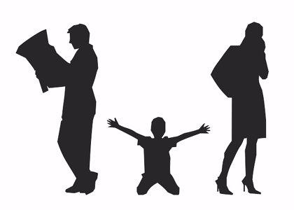Tras un divorcio, el conflicto entre los padres pone en riesgo la salud mental de los hijo
