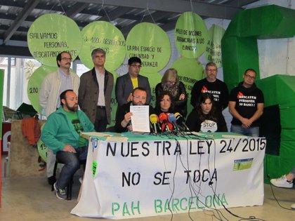 En Comú pide blindar la ley catalana de emergencia social en el Congreso
