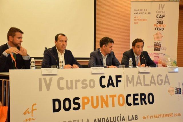 Ruiz Espejo y Bernal en un acto del Colegio de Administadores de Fincas