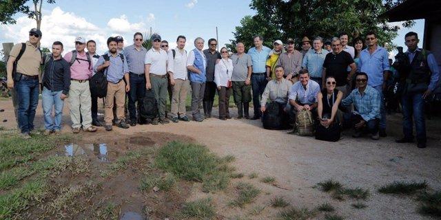Reunión del Gobierno, las FARC y la ONU en los Llanos del Yarí
