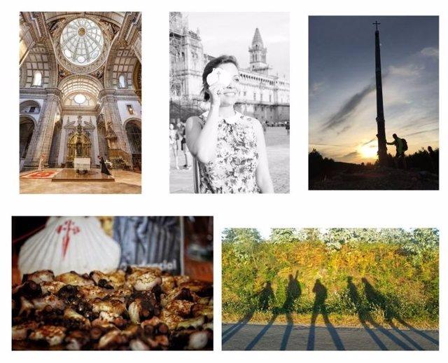 Imágenes ganadoras del concurso de Correos sobre el Camino de Santiago