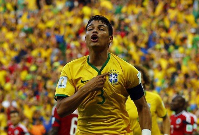 El capitán de la selección brasileña, Thiago Silva