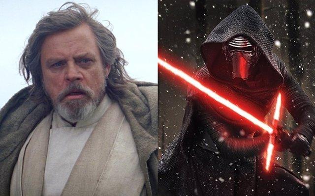 Luke Skywalker y Kylo Ren en Star Wars