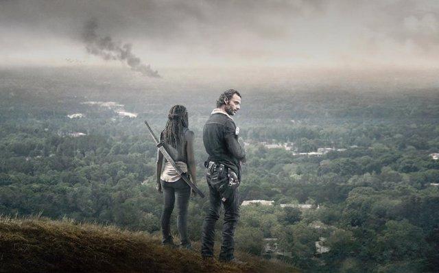 Rick y Michonne en The Walking Dead
