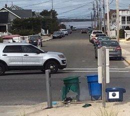 Artefacto explosivo detonado en una papelera de Nueva Jersey