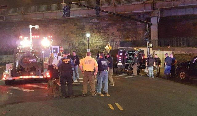 Explosión controlada de un paquete sospechoso en Nueva Jersey