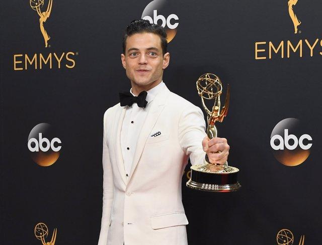 Rami Malek en la 68 edición de los Premios Emmy