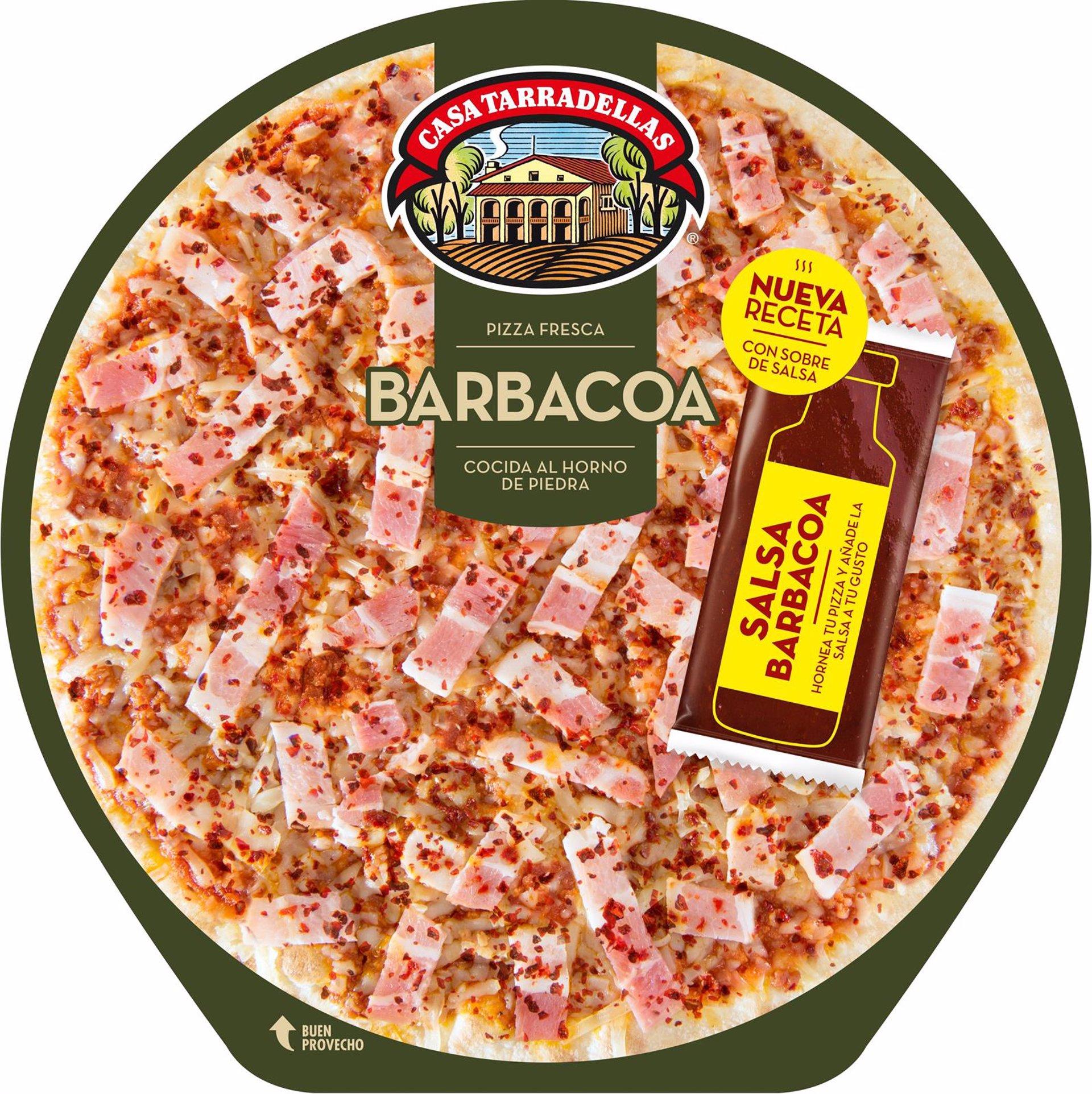 Receta de pizza a la barbacoa