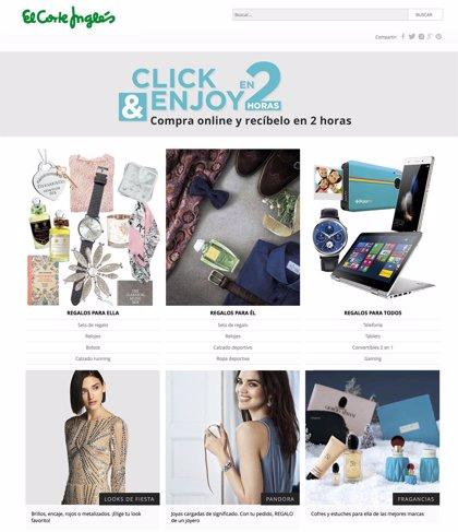 Ordenadores, pequeños electrodomésticos y telefonía, lo más vendido en Click & Express de El Corte Inglés