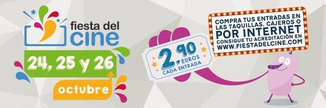 Vuelve la Fiesta del cine el 24, 25 y 26 de octubre con entradas a 2,90 euros